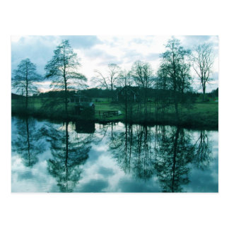 Landscape in Sweden  Post Card