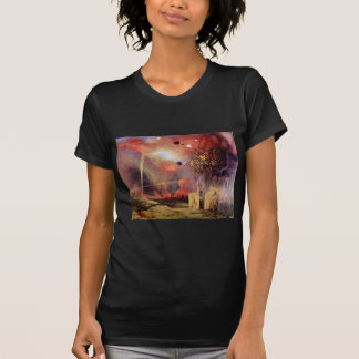 Landscape off ruins and fires by Felix Vallotton T-Shirt