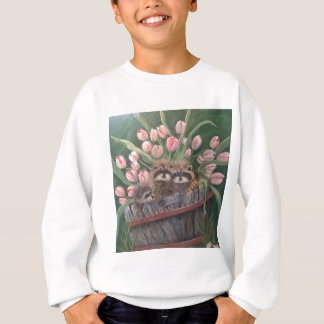 landscape paint painting hand art nature Racoons Sweatshirt