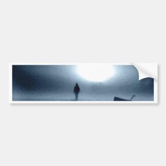 landscape, portrait, person, night, moon bumper sticker