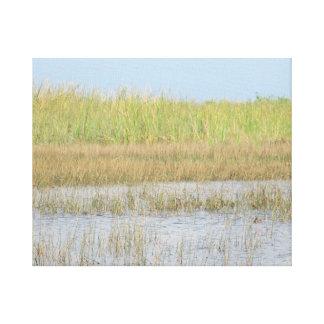 Landscape Wetlands Minimalist Everglades Photo Canvas Print