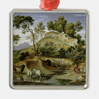 Landscape with Shepherds and Cows Christmas Ornament