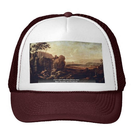 Landscape With Waterfall By Thiele Alexander Hats