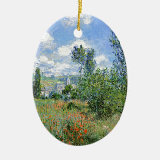 Lane in the Poppy Fields - Claude Monet Christmas Ornament