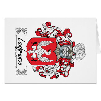 Lanfranco Family Crest Card