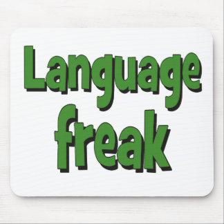 Language freak Basic green Mouse Pad