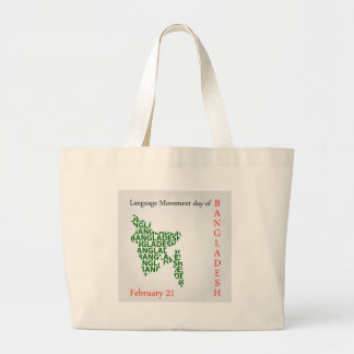 Language Movement day of Bangladesh on February 21 Large Tote Bag