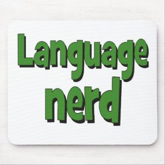 Language nerd Basic green Mouse Pad