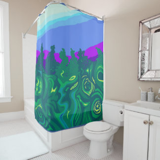 Language of Forest Art Shower Curtain