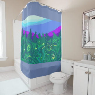 Language of Forest Art Shower Curtain 2