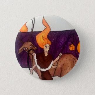 Lantern 6 Cm Round Badge