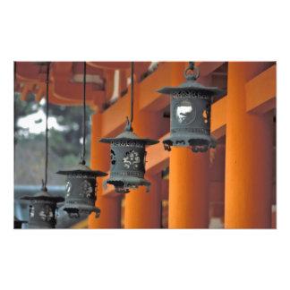 Lanterns hanging from the Heian-jingu Shrine, Art Photo