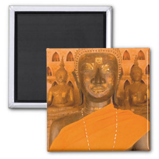 Laos, Vientiane, one of 6840 Buddha images in Square Magnet