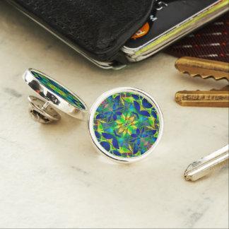 Lapel Pin Floral Fractal Art