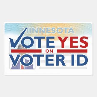 Lapel Sticker - Vote YES on Voter ID