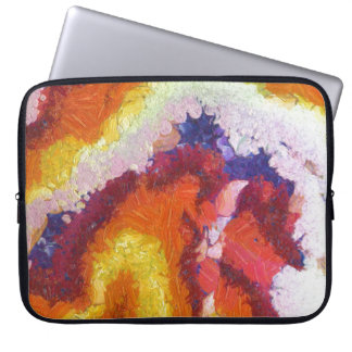 Laptop Sleeve 15'' oil painting Hot Rock-Magma 2