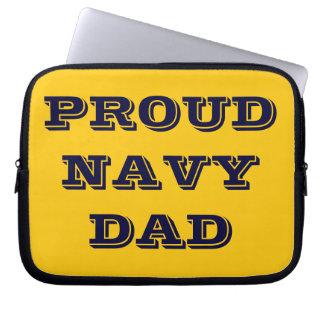 Laptop Sleeve Proud Navy Dad