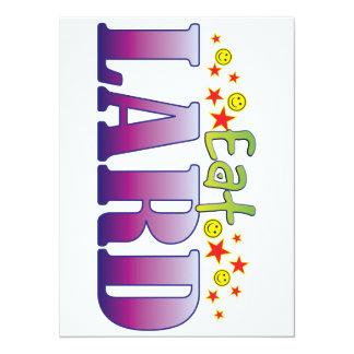 Lard Eat 14 Cm X 19 Cm Invitation Card