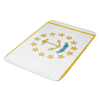 Large bath mat with flag of Rhode Island, USA