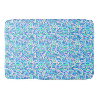 Large Bathmat Seaweed in Sunlit Water with Bubbles Bath Mats