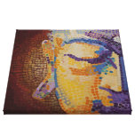 Large Buddha Face Stretched Canvas Prints