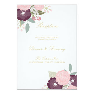 Large Floral Reception Card