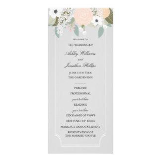 Large Floral Wedding Program Full Color Rack Card