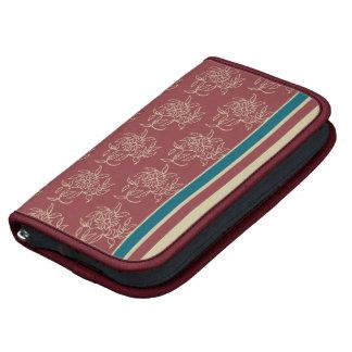 Large Folio Planner, Maroon Mini-print and Stripes