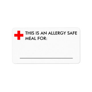 Large Food Identification Label Address Label