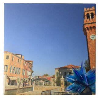Large Glass Statue and Bell Tower, Italy Tile