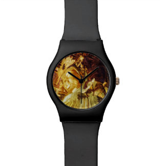 Large Gold Statue Kyoto Japan Abstract Wristwatches