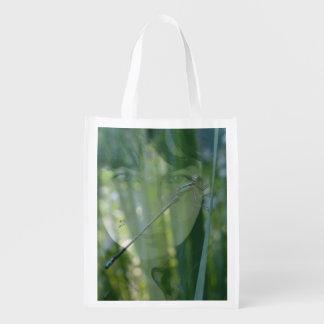 large green lady bag