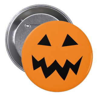 Large Halloween pumpkin head carving buttons