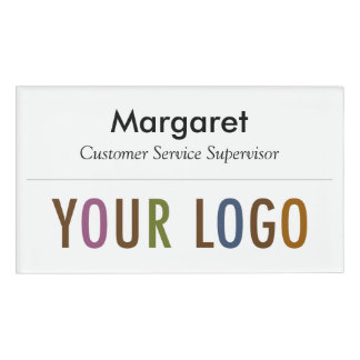 Large Name Badge Magnet Custom Logo Employee Staff