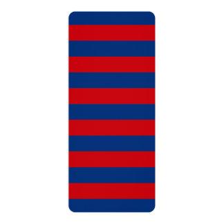 Large Nautical Theme Horizontal Stripes 10 Cm X 24 Cm Invitation Card