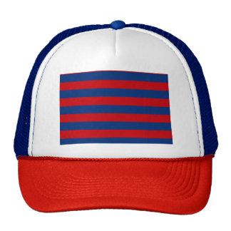 Large Nautical Theme Horizontal Stripes Cap