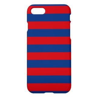 Large Nautical Theme Horizontal Stripes iPhone 7 Case
