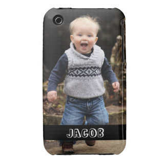 Large photo personalize your own black band Case-Mate iPhone 3 cases