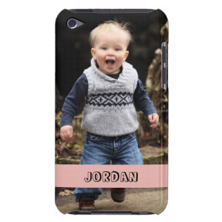 Large photo personalize your own pink band barely there iPod covers