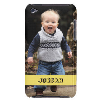 Large photo personalize your own yellow band barely there iPod case