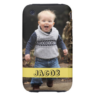 Large photo personalize your own yellow band tough iPhone 3 cases