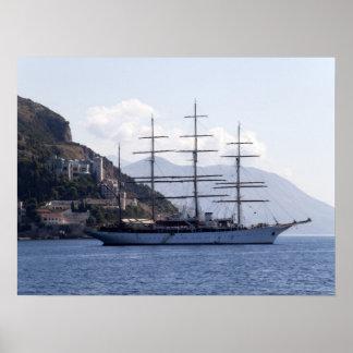 Large Pirate Ship Print