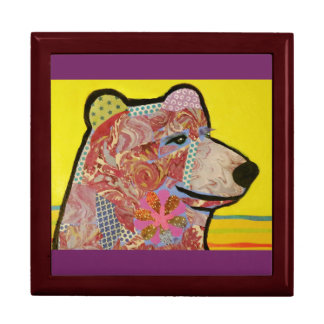 Large Square Gift Box with Big Bear