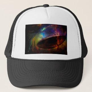 Large UFO with Nebula Trucker Hat