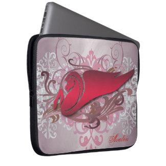 Large Urban Red Fantasy Pegasus Laptop Sleeve
