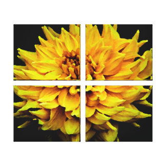 Large Yellow Dahlia Canvas Print