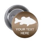 Largemouth Bass Fishing template 6 Cm Round Badge
