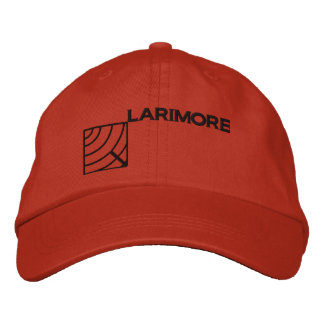 Larimore Logo with Text Embroidered Baseball Cap