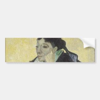 L'Arlesienne Madame Ginoux by Vincent Van Gogh Bumper Sticker