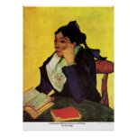 L'Arlesienne Madame Ginoux with Books by van Gogh Print